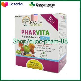 Đạt chuẩn GPP - CHUẨN BYT - [HSD 2024] Vitamin tổng hợp và khoáng chất Pharvita Plus bồi bổ cơ thể, tăng cường sức khỏe, tăng sức đề kháng - Hộp 100 viên thumbnail