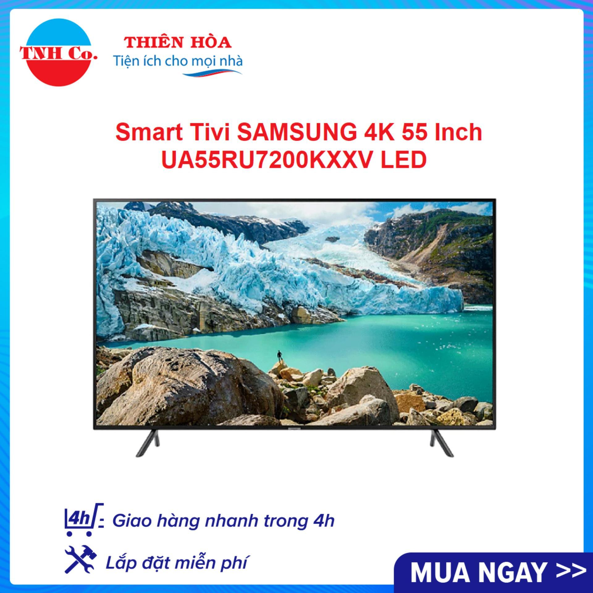 Smart Tivi SAMSUNG 4K UHD 55 Inch UA55RU7200KXXV LED (Đen) kết nối Internet Wifi - Bảo hành 2 năm