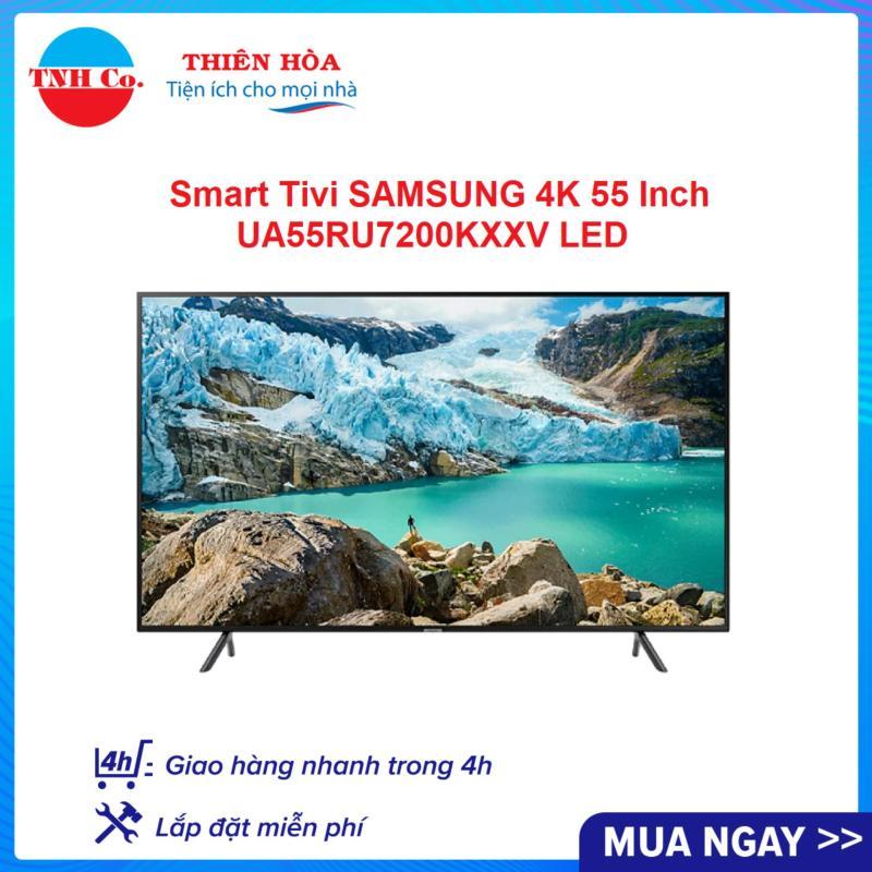 Bảng giá Smart Tivi SAMSUNG 4K UHD 55 Inch UA55RU7200KXXV LED (Đen) kết nối Internet Wifi - Bảo hành 2 năm
