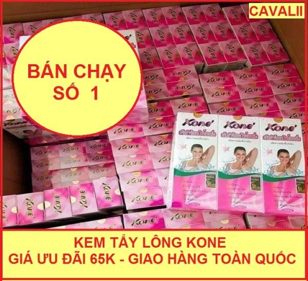 Kem tẩy lông Kone dùng cho mọi loại da loại bỏ lông tay lông chân cho làn da trắng mịn- hàng chính hãng Thái Lan