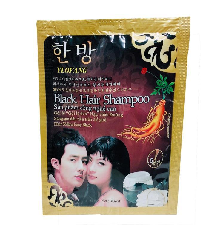Gói Dầu Gội Nhuộm Đen Tóc Black Hair Shampoo Hàn Quốc giá rẻ