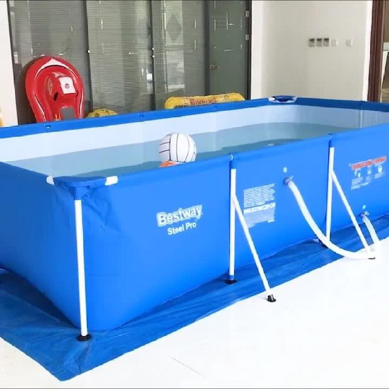 Bể Bơi besway 56403 2.59mx 1.70mx 61cm BH 24 THÁNG , Qùa trị giá 250k .1 phao tay, 2 phao tròn , 1 bóng