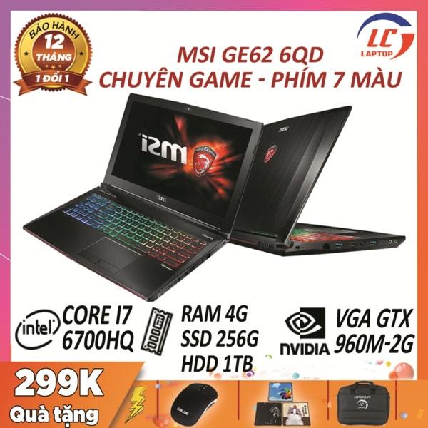 Bảng giá MSI GE62 6QD chuyên game core i7-6700HQ, VGA rời Nvidia GTX 960M- 2G, màn 15.6″ FullHD IPS - laptop gaming giá rẻ Phong Vũ