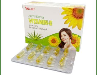 Viên uống đẹp da Vitamin E 4000mcg, Aloe vera 500mg, Omega 3 làm đẹp da, chống lão hóa, ngừa nếp nhăn - Hộp 30 viên thumbnail