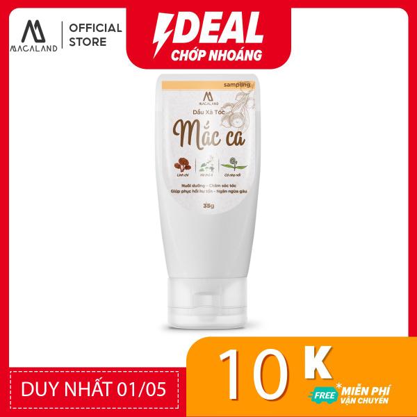 Dầu Xả tóc dầu Mắc Ca Macadamia 35ml MACALAND giúp tóc mượt và dày hơn (travel kit)
