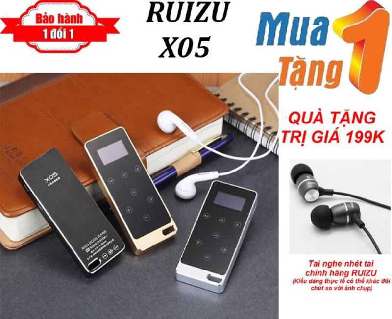 Máy nghe nhạc MP3 Lossless RUIZU X05 + Tặng Tai nghe nhét tai RUIZU cao cấp - Máy nghe nhạc pin trâu - chất lượng cao