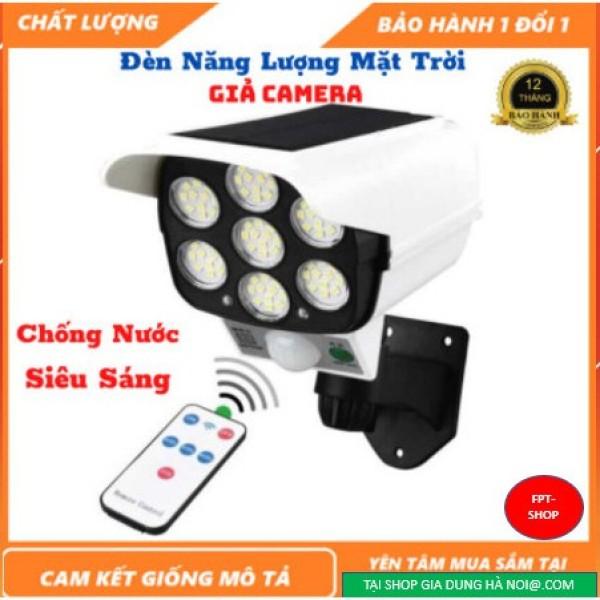 Đèn Năng Lượng mặt Trời Giả Camera Chống Trộm Cảm Ứng Tự Động Bật, Tắt, Có Điều Khiển từ xa 3 Chế Độ Sáng,Siêu Sáng