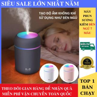 Máy Phun Sương Mini Tạo Độ Ẩm Kiêm Đèn Ngủ 7 Màu Cực Xinh, Máy xông tinh dầu mini trong phòng ngủ, xe ô tô, tiện lợi, Máy tạo khói, Máy phun sương tạo ẩm thumbnail