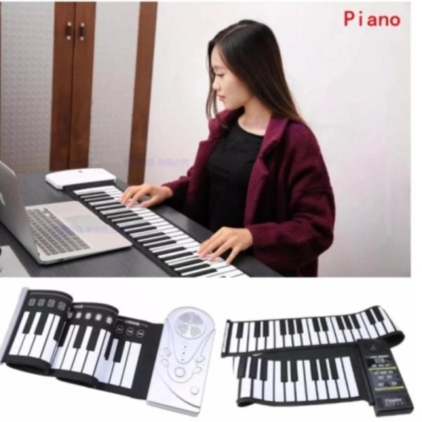 ĐÀN PIANO Gấp Gọn - Bàn Phím Di Động 49 Phím Cuộn Lên Silicone Mềm Dẻo Bàn Phím Âm Nhạc Kỹ Thuật Số Điện Tử Piano Mới.