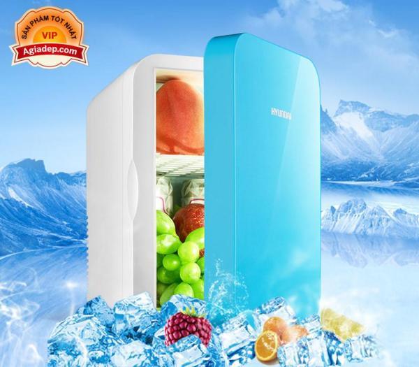 Tủ lạnh mini Hyundai Hàn Quốc 2 chiều nóng lạnh (Dùng cả trên oto xe hơi và trong nhà) - Loại 4L