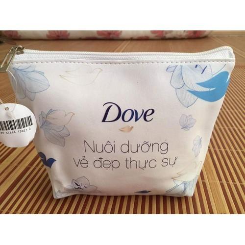 Combo 50 gói sữa tắm Dove dưỡng ẩm dịu mát 6g tặng hai túi đựng simili chính hãng