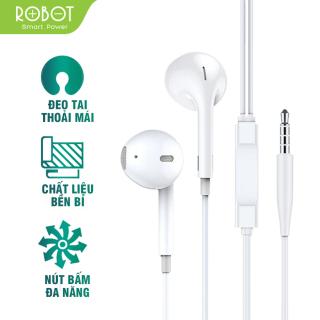 [Bảo Hành 12 tháng] Tai nghe có dây ROBOT RE10 Âm bass mạnh mẽ chất lượng âm thanh HD nghe nhạc chơi game có micro đàm thoại - Hàng chính hãng thumbnail