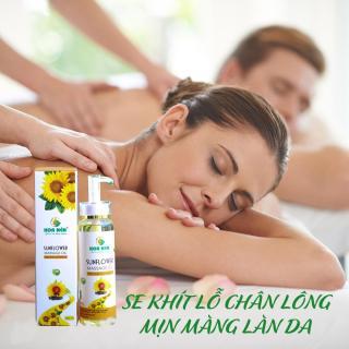 Tinh dầu hoa hướng dương nguyên chất Hoa Nén 300ml - Giúp đẹp da và đen tóc hiệu quả thumbnail