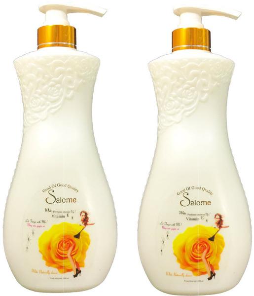 Combo 2 chai sữa tắm Salome sáng và dưỡng da tinh chất Enchanture 1000ml x 2 chai Date 2024 nhập khẩu