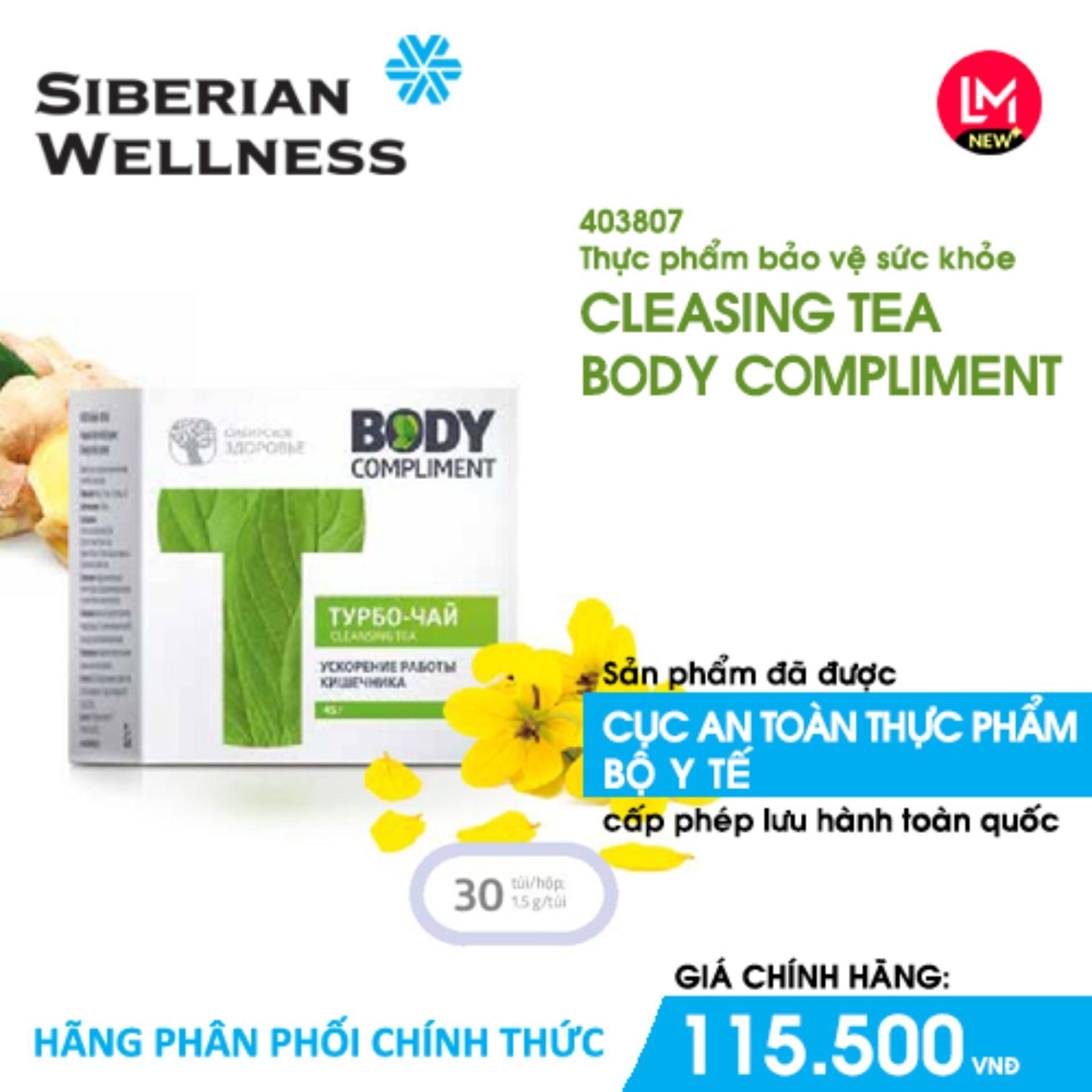 Trà giảm cân, hỗ trợ tăng cường đường ruột Cleansing tea body compliment (Siberian Health) - Hãng phân phối chính thức