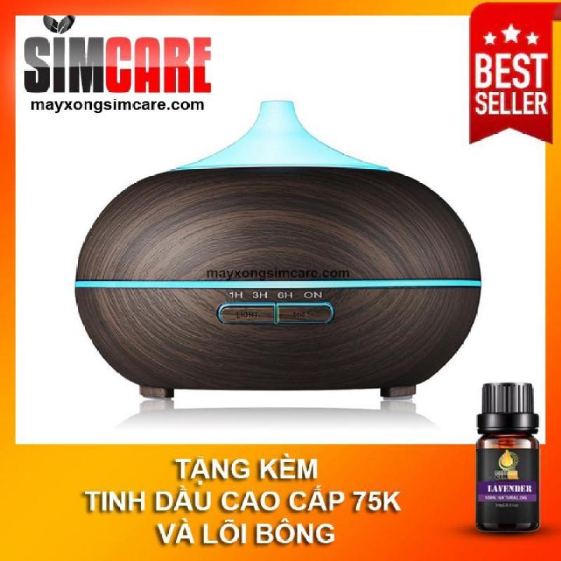 Máy xông tinh dầu bí ngô, máy khuyếch tán tinh dầu  350ml có remote, tạo độ ẩm cho phòng điều hòa Ultrasonic/Humidifying Difusers, thay thế cho đèn xông tiện lợi ( Tặng tinh dầu 10ml)