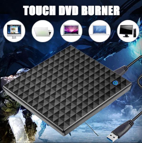 Bảng giá Ổ đĩa DVD ngoài USB 3.0 CD DVD di động + - RW Drive burner cho máy tính xách tay Mac kQ2lGpSi Phong Vũ
