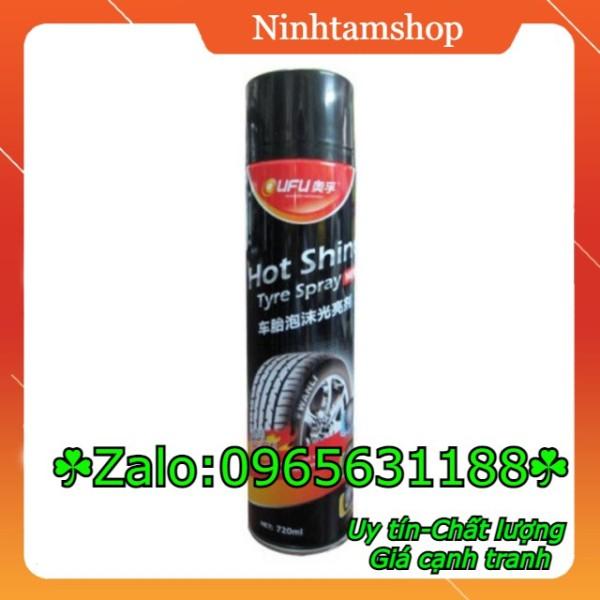 Hot shine - SỈ Xịt bóng lốp ô tô Hot shine chai to hàng LOẠI 1