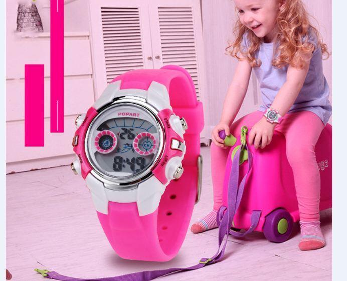 (Cập nhật 2019)Đồng hồ điện tử cho bé Popart 448 kiểu dáng đáng yêu