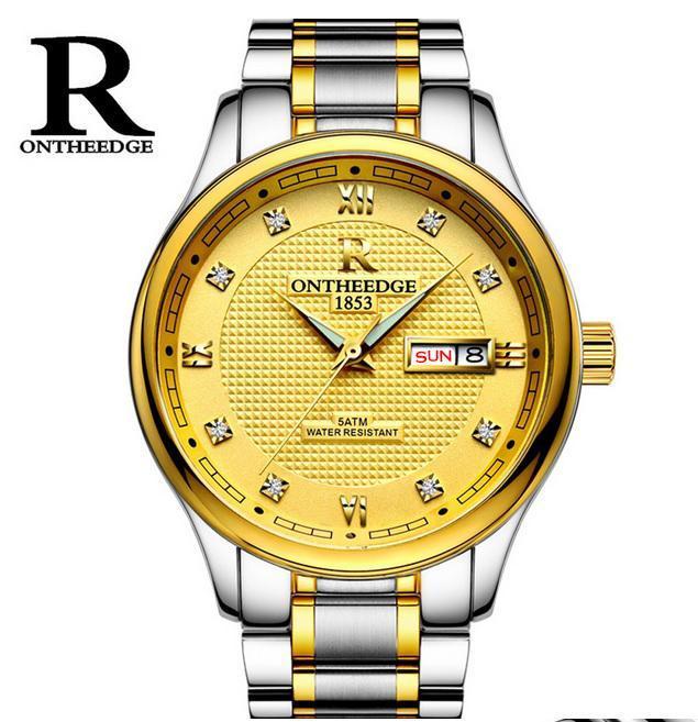 Đồng hồ nam dây thép đặc Ontheedge RZY03 kiểu dáng sang trọng (Full Box) bán chạy