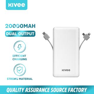 Pin sạc dự phòng 20000Mah Siêu Mỏng Siêu Nhẹ Đi kèm với giao diện ba dây Type-C, Micro, Lightning (PT202) KIVEE thumbnail