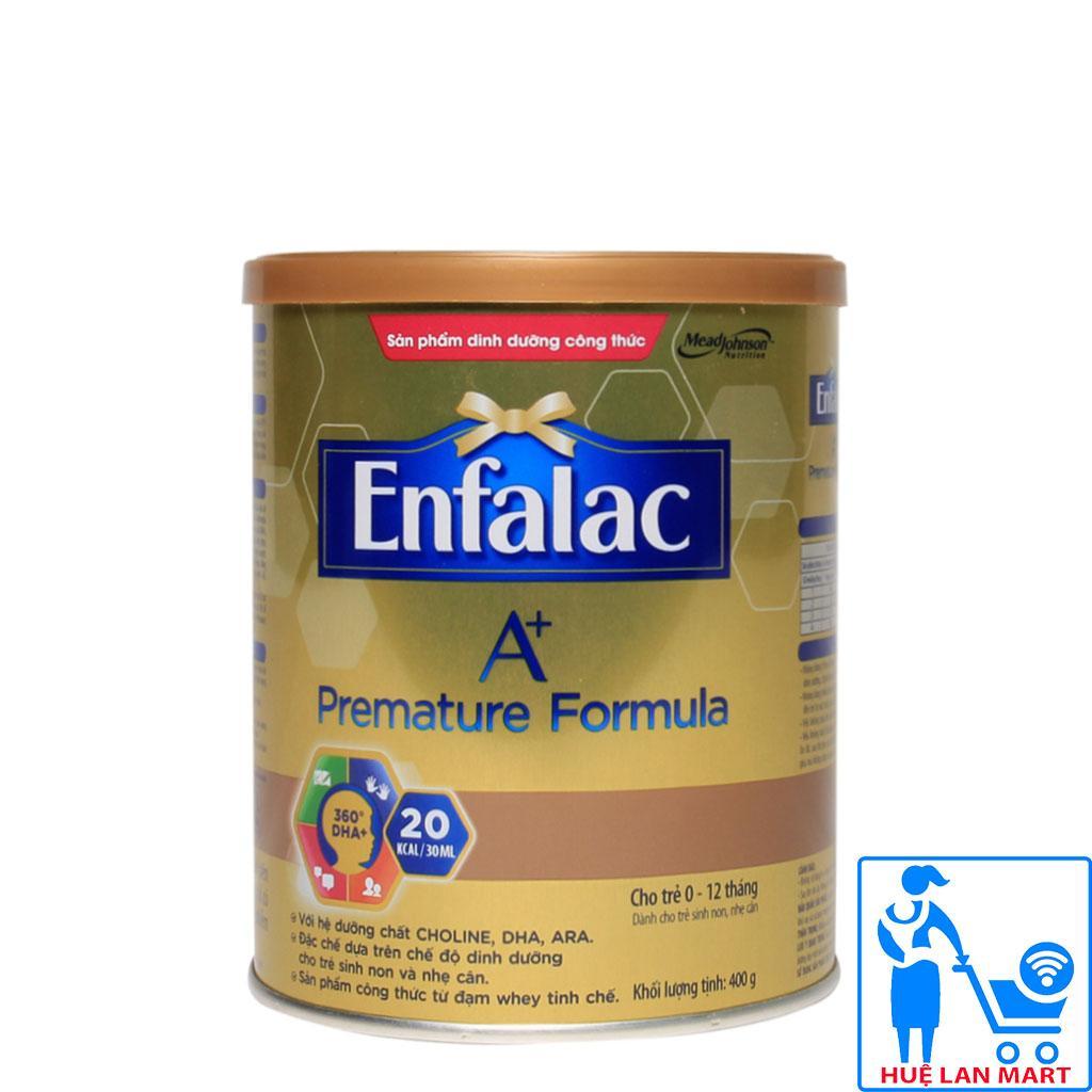 Sữa Bột Mead Johnson Enfalac A+ Premature Formula Hộp 400g (Dành cho trẻ sinh non, nhẹ cân từ 0~12 tháng tuổi)