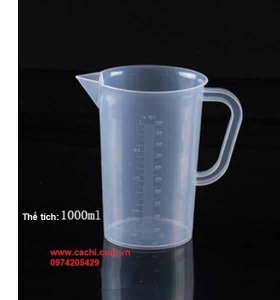 Ca đong bằng nhựa có chia vạch định mức 1000ml