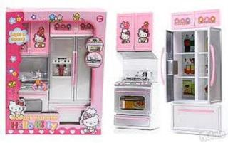 Đồ chơi nấu ăn có tủ lanh mở cửa dùng pin phát nhạc dùng có đèn, DO CHOI TU BEP 2 NGAN CO DEN NHAC (KÈM PIN) thumbnail