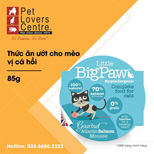 Thức ăn ướt cho mèo LITTLE BIG PAW  POT GOURMET ATLANTIC SALMON MOUSSE (HYPOALLERGENIC) 85g