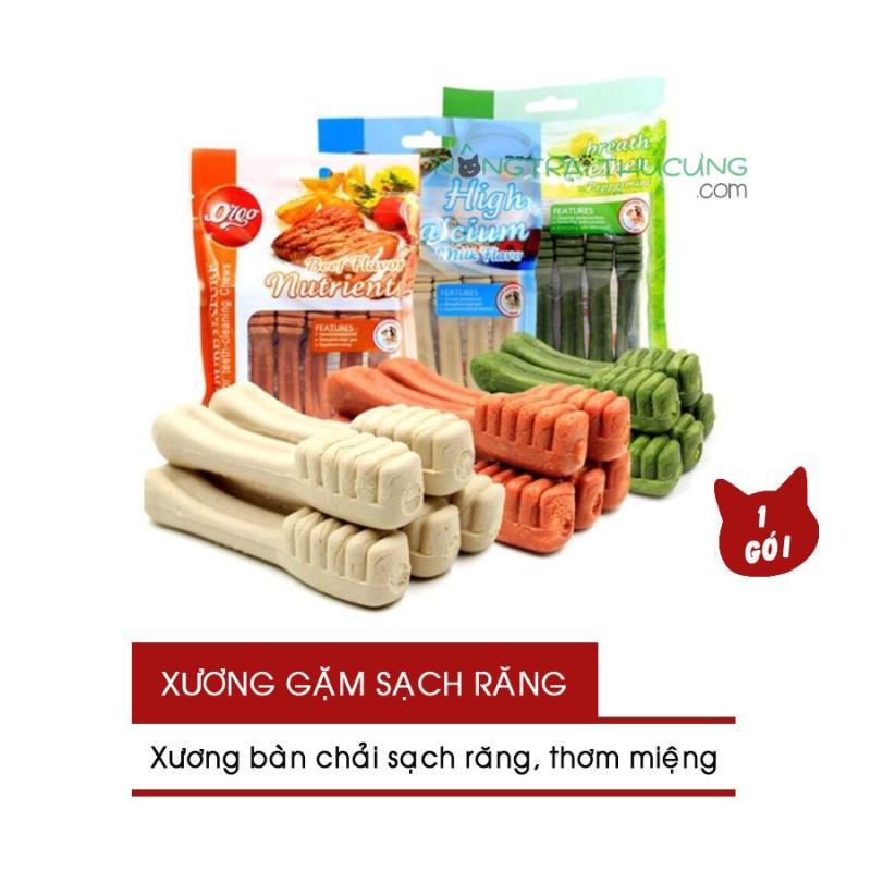 Xương Gặm Sạch Răng - Bánh Thưởng - Xương Bàn Chải Orgo - Gói 90gr 6 cây - Nhiều vị - [Nông Trại Thú Cưng]