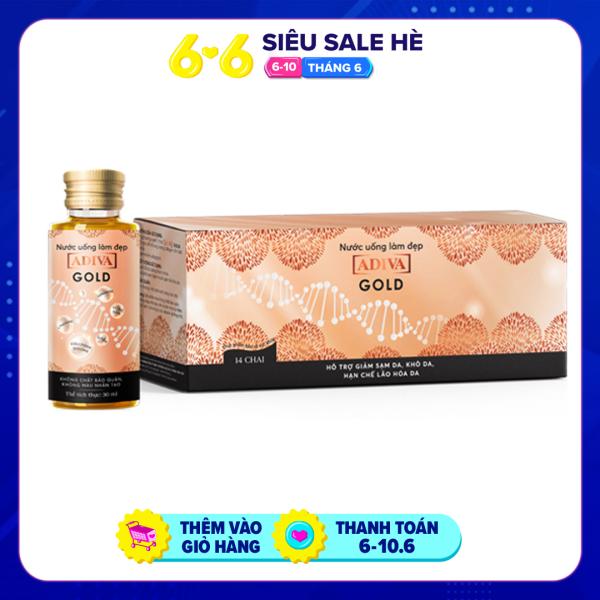 Nước uống làm đẹp Gold ADIVA Collagen (14 lọ x hộp)