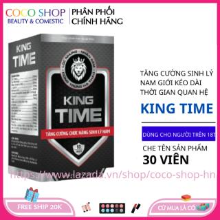 Bổ thận tráng dương tăng cường sinh lý KING TIME 30 viên HSD 2023 che tên sản phẩm thumbnail