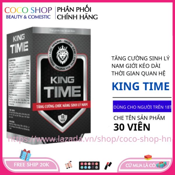 Bổ thận tráng dương tăng cường sinh lý KING TIME 30 viên HSD 2023 che tên sản phẩm