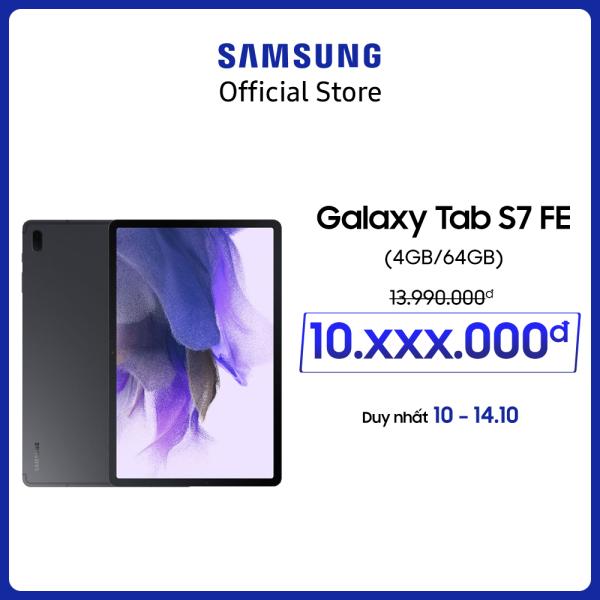 Máy tính bảng Samsung Galaxy Tab S7 FE - Tặng bookcover - Bảo hành chính hãng 12 tháng (Không tặng kèm bàn phím) chính hãng