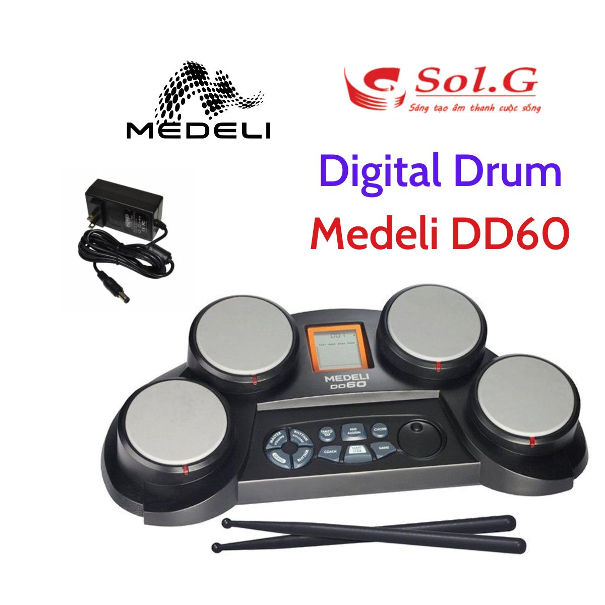 Trống Điện Tử Medeli DD60 chính hãng, trống điện tử cho người mới tập chơi, biểu diễn nhỏ