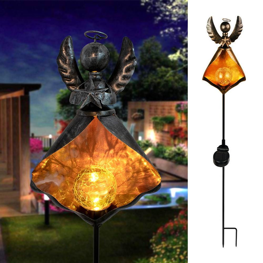 BH LED Retro Solar Simulate Flame Lawn Lamp for Outdoor Garden Landscape Decor