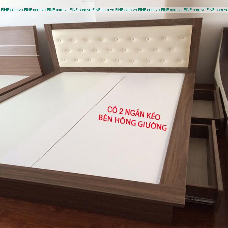 Giường FINE 2 Hộc Kéo FG006 (160cm x 200cm)