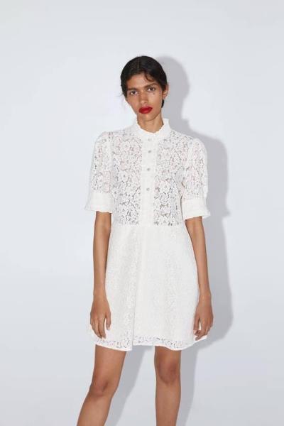 Đầm ren trắng Zara