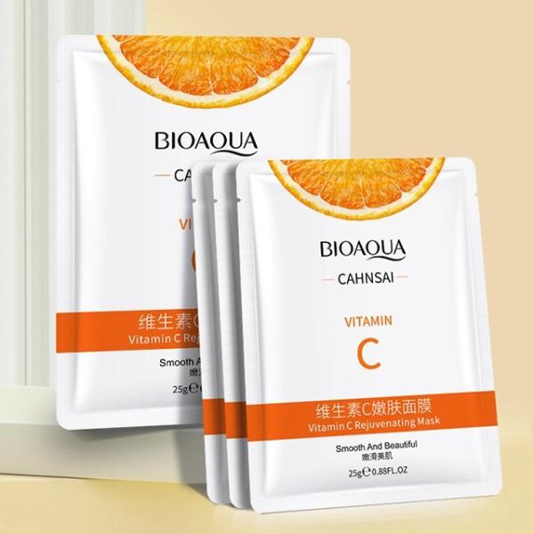 [HCM]COMBO 10 Mặt Nạ Giấy Vitamin C Bioaqua Chiết Xuất Tinh Chất Cam - Cấp Ẩm - Dưỡng Trắng Da - Căng Da Mịn Màng nhập khẩu