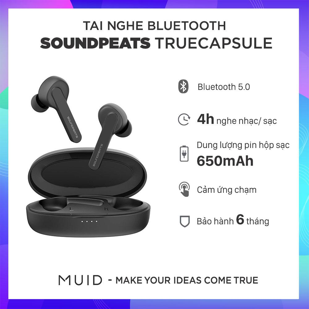 Tai Nghe True Wireless Earbuds SOUNDPEATS TrueCapsule Smart Touch Bluetooth V5.0