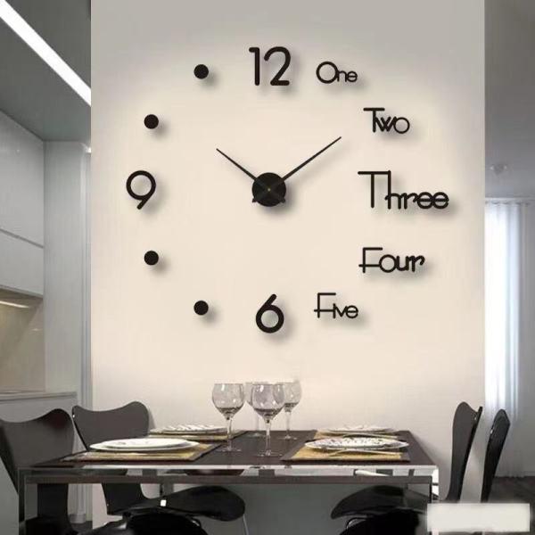 Nơi bán Đồng hồ treo tường DIY 14 INCH, Đồng hồ treo tường kỹ thuật số sáng tạo mới Đồng hồ báo thức đồng hồ treo tường.