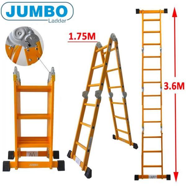 Thang nhôm gấp 4 đoạn Jumbo B303