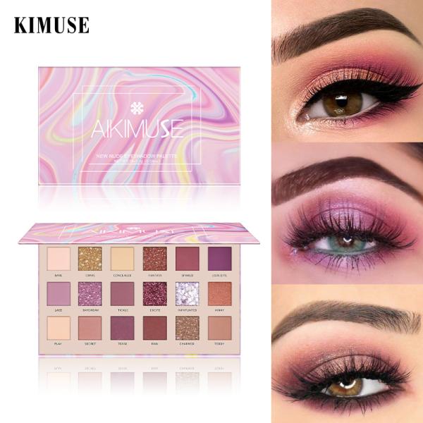 AIKIMUSE Palet Eyeshadow Warna Nude / Shimmer / Matte