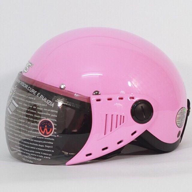 Giá bán Mũ bảo hiểm GRS A08 (Hồng bóng)(Hồng) (Mũ dành cho người đầu nhỏ hoặc trẻ em trung học phổ thông)
