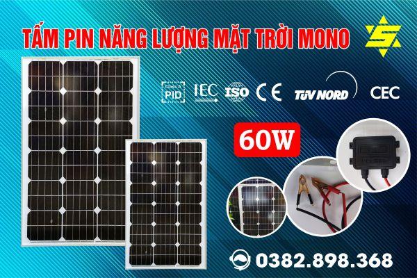Tấm pin năng lượng mặt trời 60W SUNGIM MONO