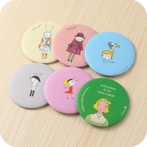 [ACC]Gương trang điểm kích thước mini phong cách Hàn Quốc xinh xắn