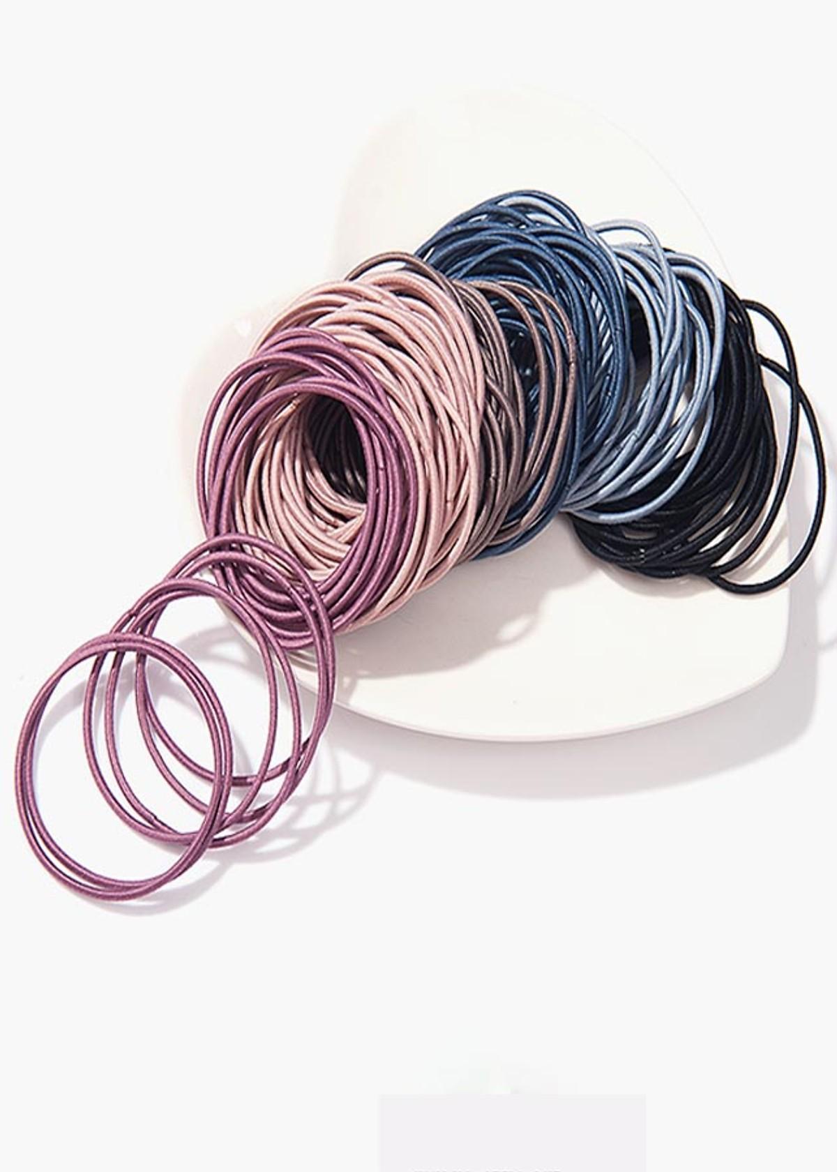 Giá bán Set 100 dây cột tóc trơn đơn giản, tiện lợi - màu ngẫu nhiên