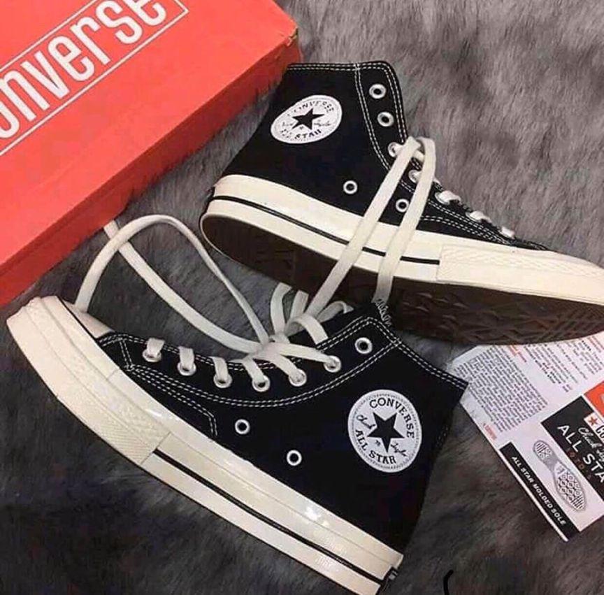 (Tặng Túi converse + tặng tất +bill ) Giày Converse cao cổ 1970s màu đen, giày Sneaker Nam nữ, Giày thể thao Nam nữ giá rẻ