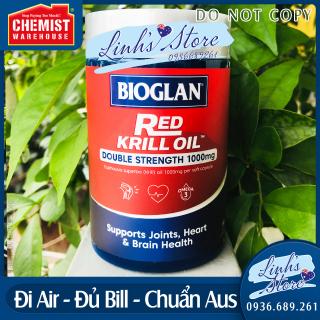 EXP 04 2024 Dầu nhuyễn thể Bioglan Red Krill Oil 1000mg 60 viên Chemist Warehouse - Úc thumbnail