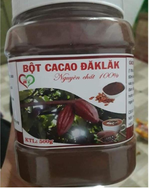 Bột Cacao Daklak Nguyên Chất 100% (hộp 500g) Với Giá Sốc